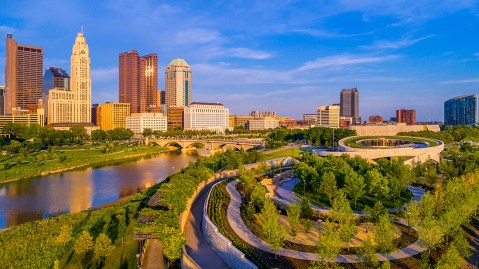 the columbus skyline photographed by Andy Spessard