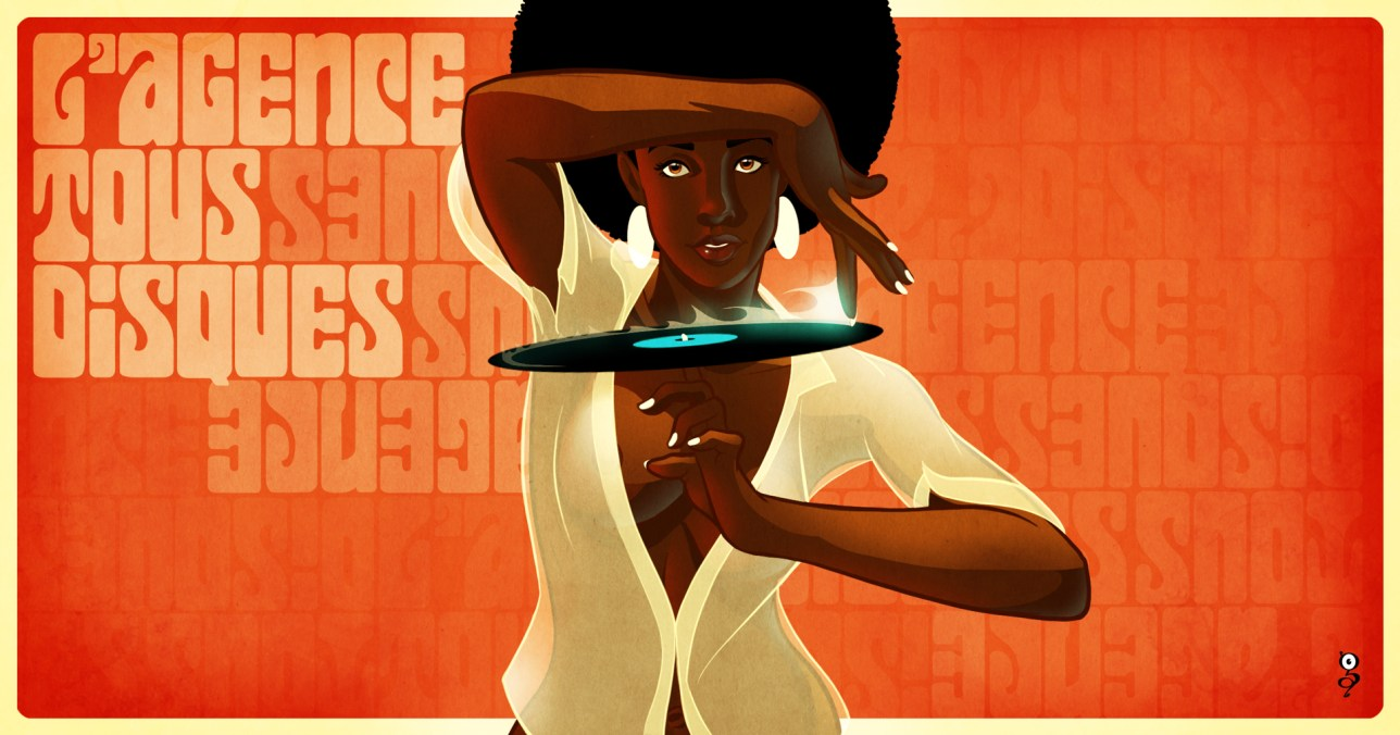 L'agence tous disques, illustration groove