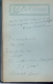 Harriette's graduation book, June 21, 1921.