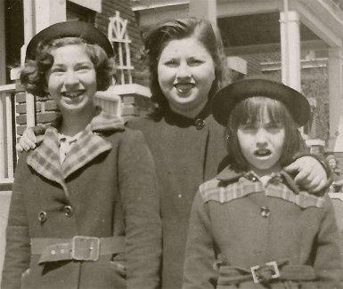 Sally Klein Dikowitz, Lillian Herman Klein, Vivian Klein Berman via Shari Landes