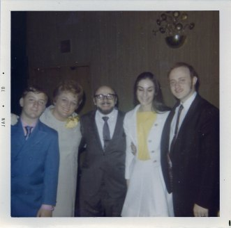 Stanley Abrams, Rita Berman Abrams, Larry Abrams, Unknown, David Abrams (via Shari Berman Landes)