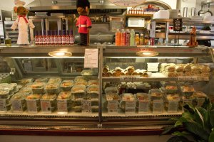 Deli Case Containing Wraps, Sandwiches, and Salads