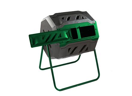 mr spin compost tumbler open door