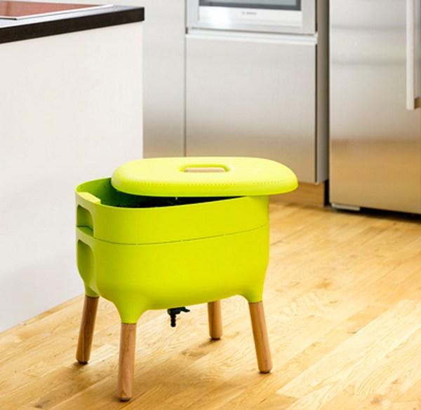 urbalive worm bin in kitchen
