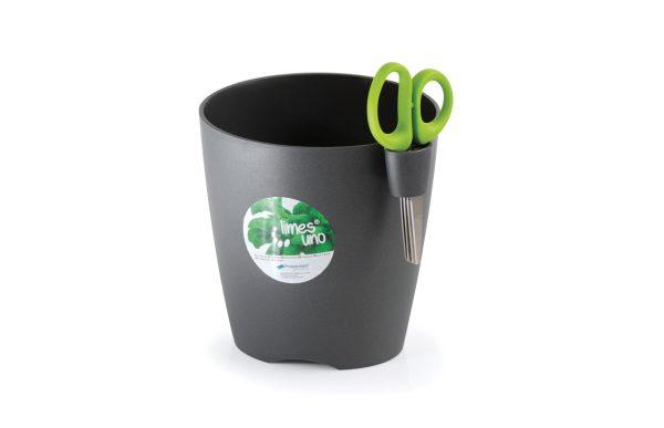herb planter with scissors graphite