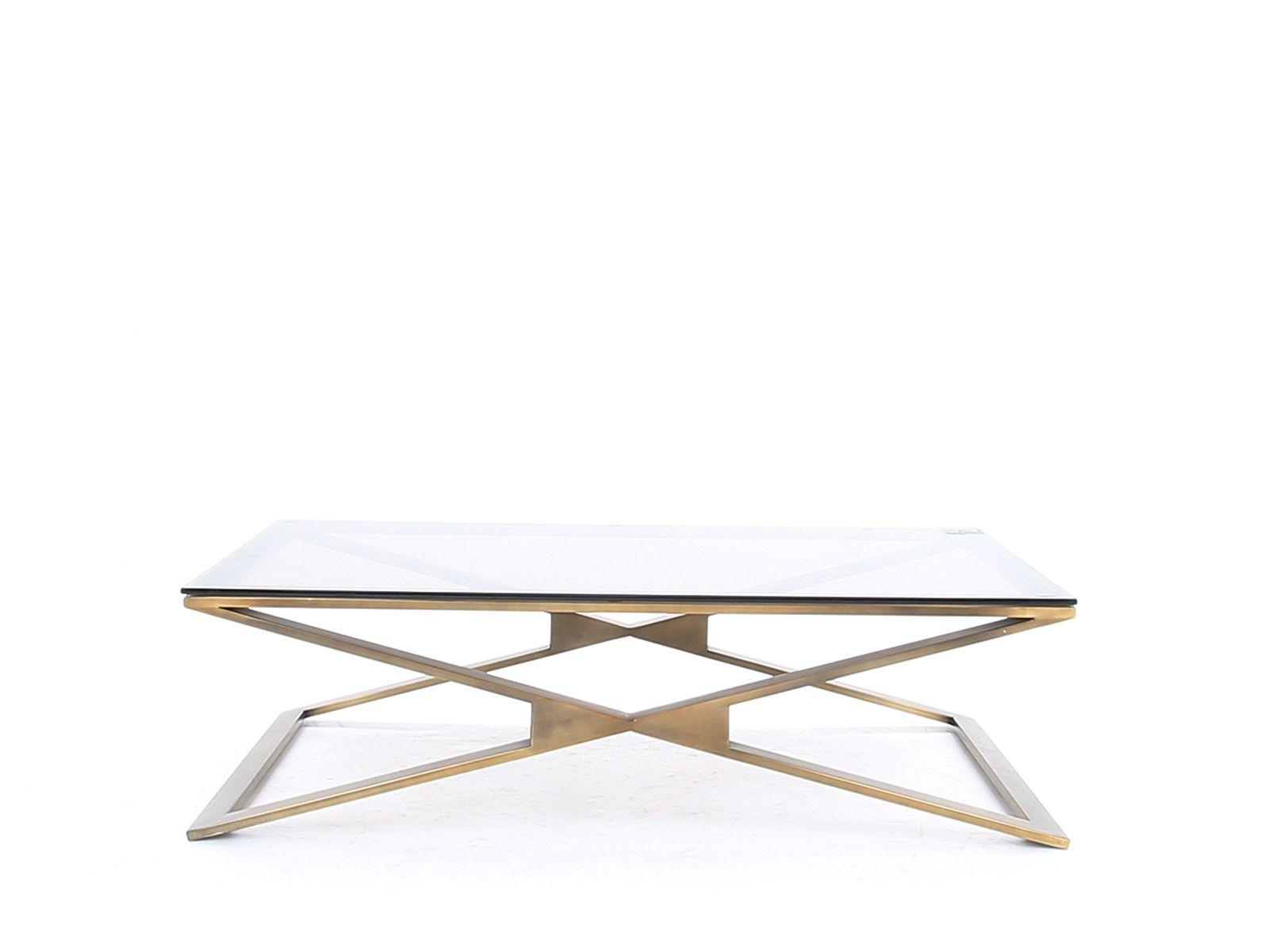 rosanna coffee table brushed brass bronze glass