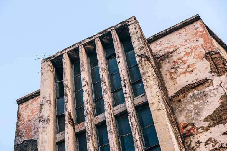 abandoned architecture bricks broken