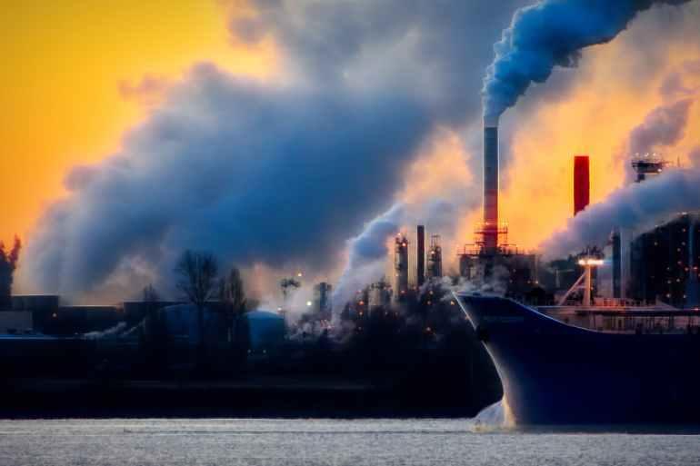 black ship on body of water screenshot