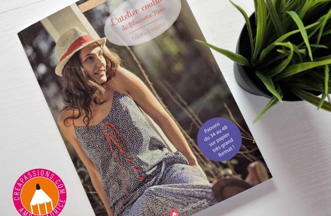 livre l'atelier couture de blousette rose