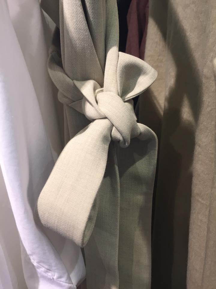 Close-up of the obi belt