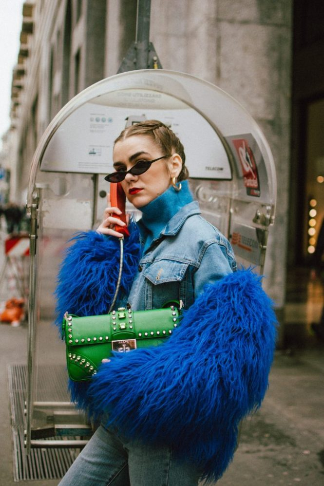 It S A Blue Kind Of Day Blue Faux Fur Jacket Amp Double