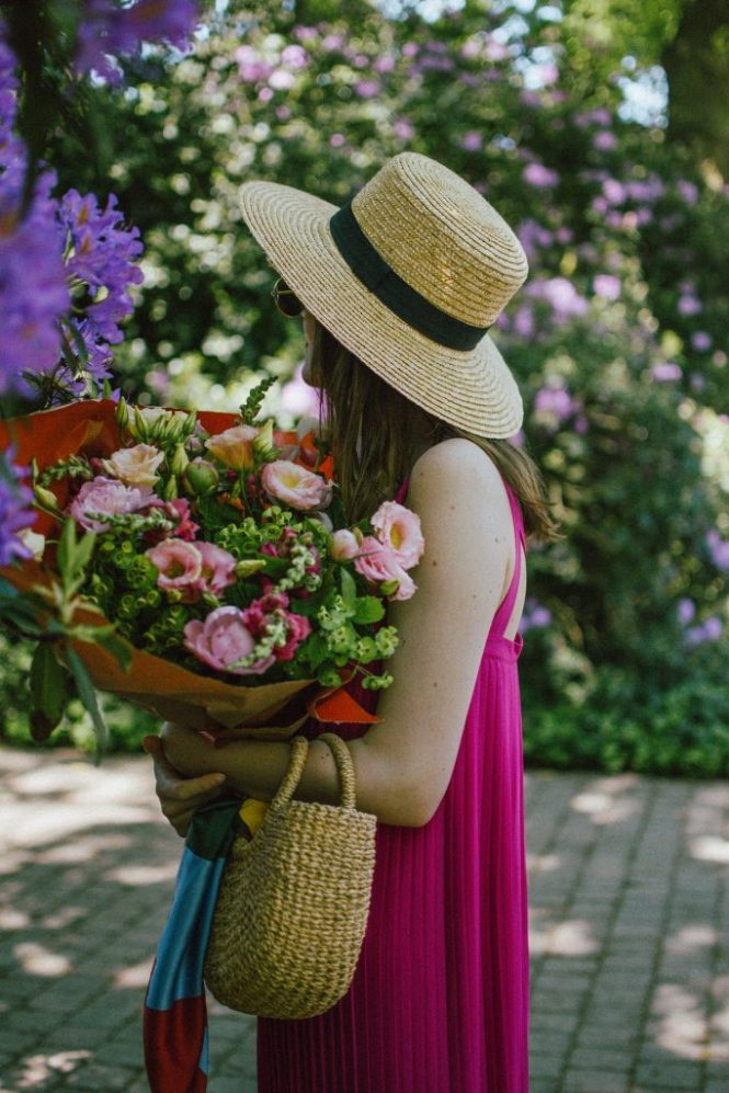 Massimo Dutti hot pink pleated maxi dress, pink suede kitten heels, wconcept shoes, straw boater hat, basket bag, peonies, schilde belgium, andreea birsan, couturezilla, cute spring outfit ideas 2018, flowers, travel to belgium, wanderlust, pink shoes and pink dress, how to wear two shades of pink in one outfit, date night outfit idea, how to wear a maxi dress, pleated maxi dress perfect for summer weddings, casual dress, chic dress, pink outfit ideas, flower bouquet, how to look Parisian chic, woven bag, basket bag, raffia bag, the best bags for summer, wicker bag, silk scarf, oval sunglasses, small sunglasses, European summer street style inspiration for women 2017, pinterest chic outfit ideas for woman, summer outfit ideas, summer ootd inspiration, outfit of the day, ootd, fashion icon, style inspiration, fashionista, fashion inspiration, style inspo, what to wear in summer, how to look French, chic on a budget, zara outfit, mango, topshop, asos, river island, forever 21, urban outfitters, how to mix high end pieces with luxury ones, zara and Gucci,outfit alternatives for summer, tomboy chic, minimal outfit, tumblr girls photos, pictures, happy girl, women, smart casual outfits, the best outfit ideas 2017, what to wear when you don't feel inspired, summer in Europe, weekend attire, uniform, French women in summer, European outfit ideas 2017, minimal chic outfit, how to stand out, the best outfit ideas for summer, the sunglasses you have seen everywhere on Instagram, glasses, uk fashion blogger, united kingdom, uk fashion blog, fashion and travel blog, Europe, women with style, street style, summer fashion trends 2017, best fashion ideas, styling, fall fashion, fall outfit, fall ootd, fall perfect, transitional dressing, best transitional outfit ideas, how to wear statement earrings, dressing for autumn, autumn outfit, winter outfit ideas for work and school 2017