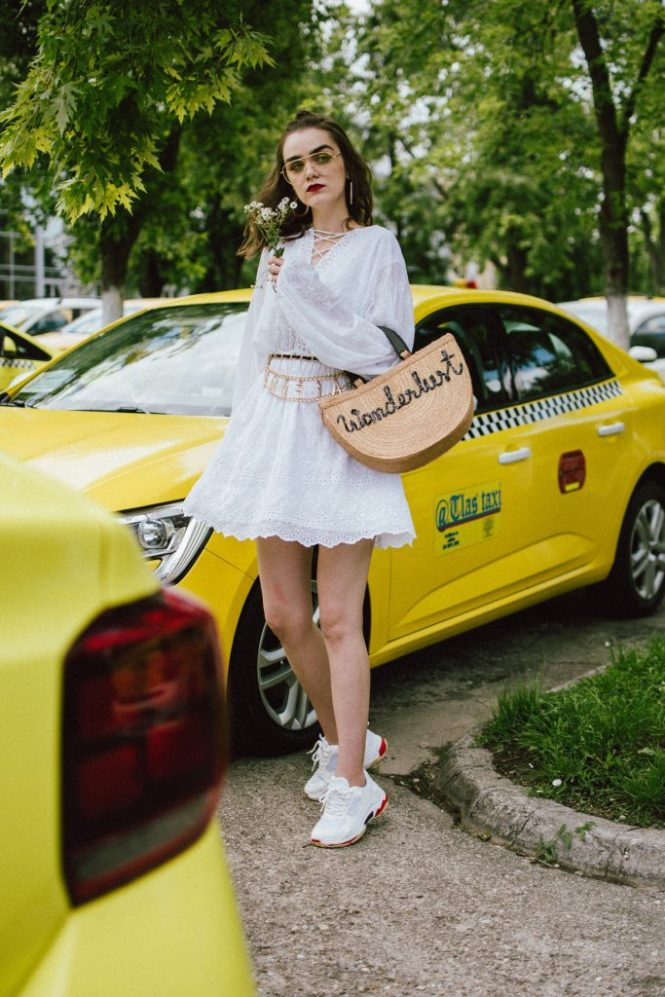 Na-kd mini white crochet dress, chunky trainers, wanderlust straw bag, chain belt, aviator glasses, andreea birsan, couturezilla, cute summer outfit ideas 2018, how to wear a girly dress with sneakers, girly dress and dad sneakers, the ugly sneakers trend, how to wear the ugly balenciaga triple s sneakers, balenciaga inspired triple s sneakers, where to find the best high street alternative to the balenciaga ugly sneakers, dad trainers trend, white sneakers, shoes that go well with everything, mini white crochet dress, white dress and white sneakers, mini dress, how to wear a mini dress without looking vulgar, feminine dresses, lace up detail white dress, zara clear lens aviator glasses, the clear lens glasses trend, how to wear the geeky glasses you keep seeing all over instagram, how to wear the ugly sneakers you keep seeing online, the chain belt trend, vintage looking chain belt, what belts to wear this summer, now trending chain belts, la femme belt, feminist, straw basket bag, handmade bag, wanderlust bag, the best summer bags, bag with wooden handle, thailand handmade bag, boho peach straw bag, raffia bag, chic bags for summer, wicker bag, basket bag, chunky white sneakers, how to look Parisian chic, European summer street style inspiration for women 2017, pinterest chic outfit ideas for woman, summer outfit ideas, summer ootd inspiration, outfit of the day, ootd, fashion icon, style inspiration, fashionista, fashion inspiration, style inspo, what to wear in summer, how to look French, chic on a budget, zara outfit, mango, topshop, asos, river island, forever 21, urban outfitters, how to mix high end pieces with luxury ones, zara and Gucci,outfit alternatives for summer, tomboy chic, minimal outfit, tumblr girls photos, pictures, happy girl, women, smart casual outfits, the best outfit ideas 2017, what to wear when you don't feel inspired, summer in Europe, weekend attire, uniform, French women in summer, European outfit ideas 2017, minimal chic outfit, how to stand out, the best outfit ideas for summer, the sunglasses you have seen everywhere on Instagram, glasses, uk fashion blogger, united kingdom, uk fashion blog, fashion and travel blog, Europe, women with style, street style, summer fashion trends 2017, best fashion ideas, styling, fall fashion, fall outfit, fall ootd, fall perfect, transitional dressing, best transitional outfit ideas, how to wear statement earrings, dressing for autumn, autumn outfit, winter outfit ideas for work and school 2017