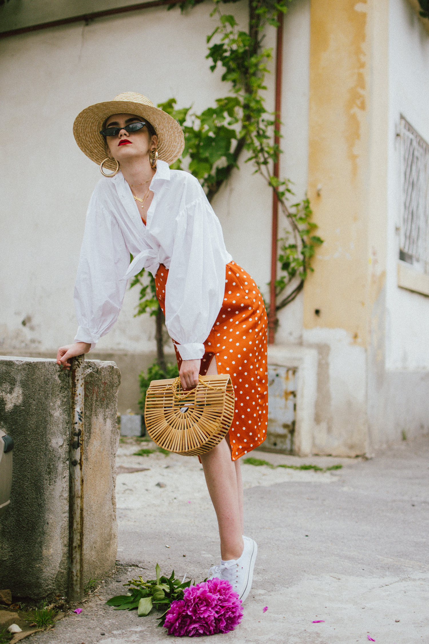 What To Wear With A Polka Dot Dress Couturezilla