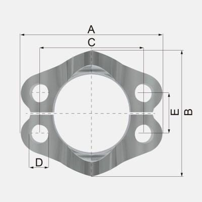FS 1 - FS Brida 6000 PSI - ISO 6162 - SAE J518