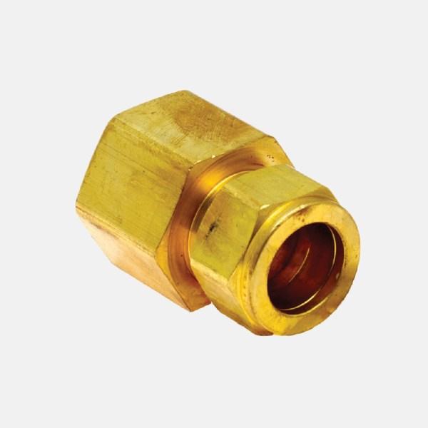 66F 1 - 66F Conexión de Latón, Conector Hembra de Compresión  Recta