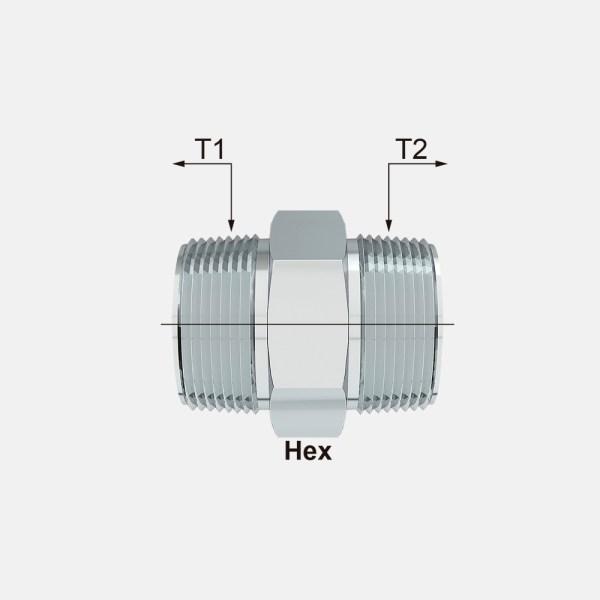 H24SA line - H24SA Adaptador Niple Macho NPTF