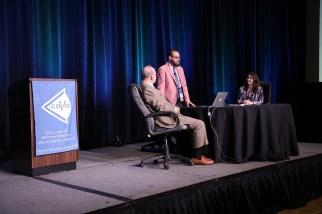Drs. Leonard Press, David Cook, and Samantha Slotnick during the 2017 VDR Symposium