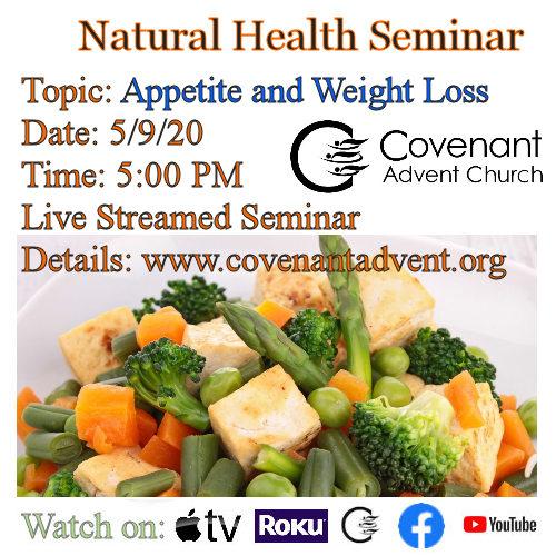 Weight loss seminar 5 9 2020