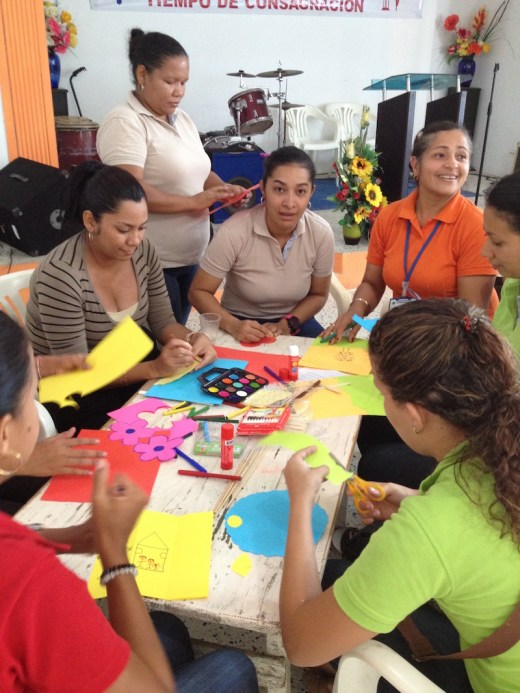 Teachers from four elementary schools in Barranquilla, Colombia, participate in an educators training event.