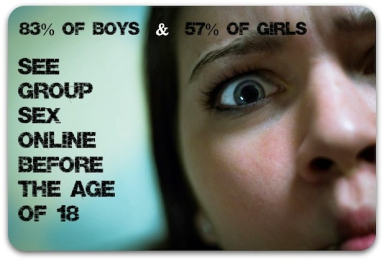kids see group sex online