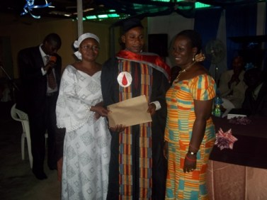 Presentation of certificate