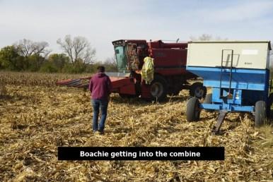 Boachie getting into the combine