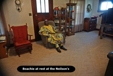Boachie sitting at Nielsons