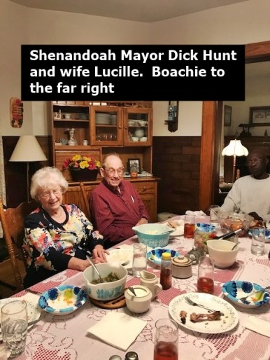 Lucille and Dick at the supper table