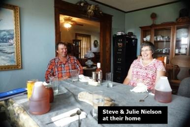 Steve N and Julie N at the table