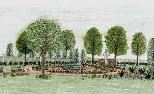 Memorial Garden rendition