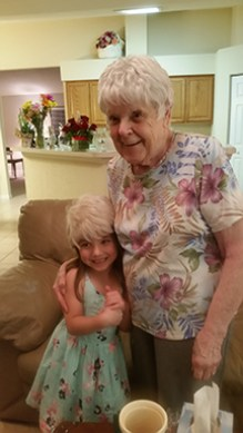 Garnett with one of her grandchildren.