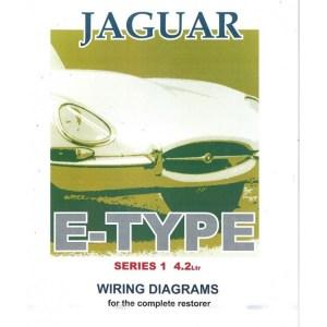 Jaguar E Type Series 1, 42 Litre Wiring Diagram Book (9191)