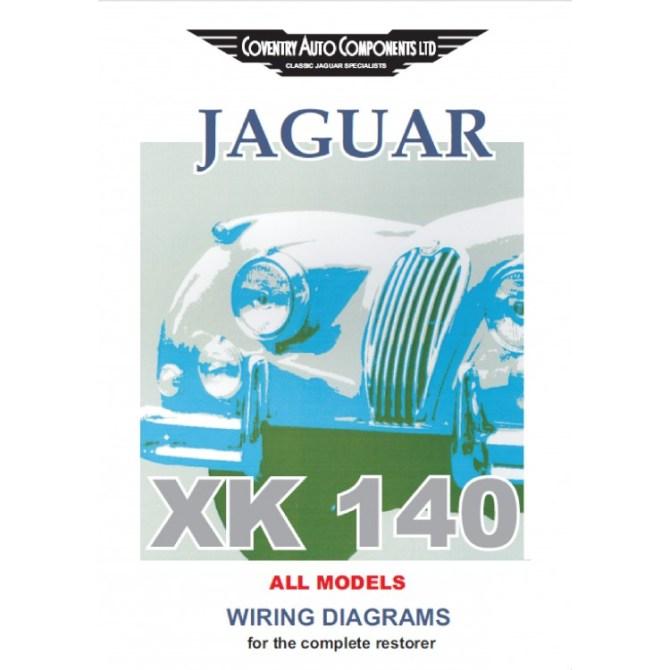 jaguar xk140 exploded wiring diagrams book 9187