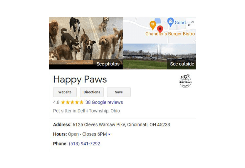 Testimonials & Reviews Services for Happy Paws
