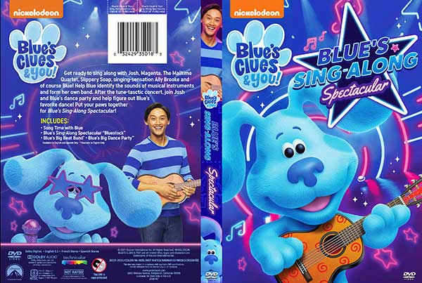Blue's Clues & You! Blue's Sing-Along Spectacular (2021) DVD Cover