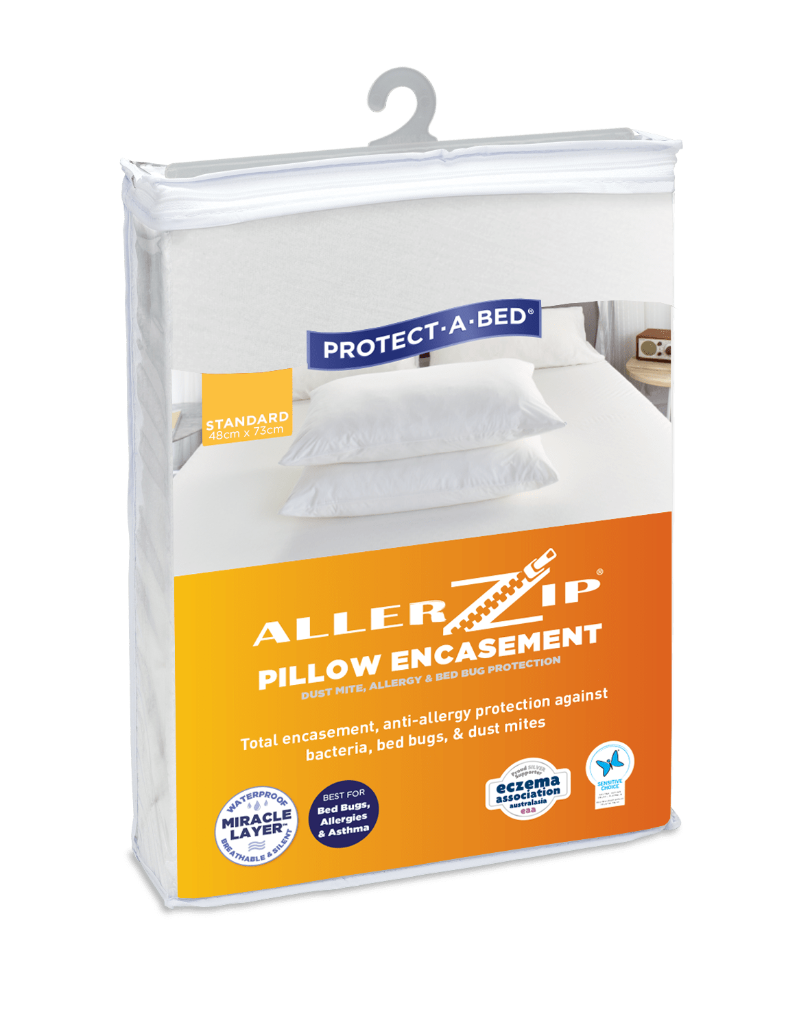 protect a bed allerzip dust mite bed bug waterproof pillow protector