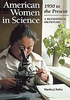 American Women in Science: A Biographical Dictionary