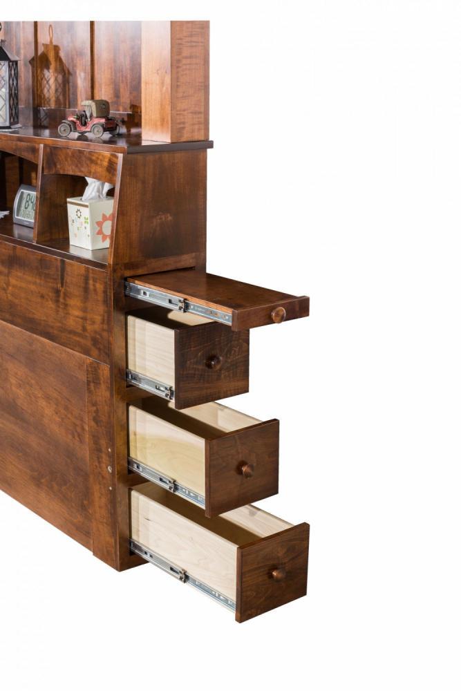 Empire Bookcase Head Board Amish Furniture Store