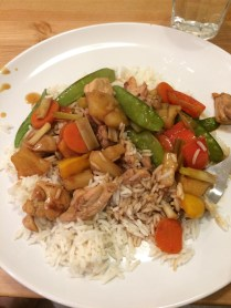 A sweet & sour version with pineapple & peppers