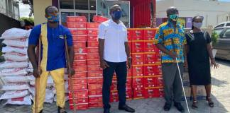 COVID-19: John Mahama's brother Ibrahim Mahama donates food items to visually impaired pensioners