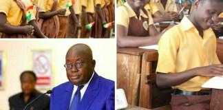 President Nana Addo Dankwa Akufo-Addo and Ghanaian students