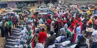 Obuobia Darko-Opoku donates motorbikes, megaphones, paraphernalia, for Weija-Gbawe campaign