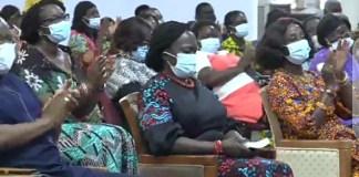 Prof. Naana Jane Opoku-Agyemang and NDC bigwigs at Perez Chapel International