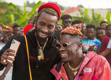 Shatta Wale with fans