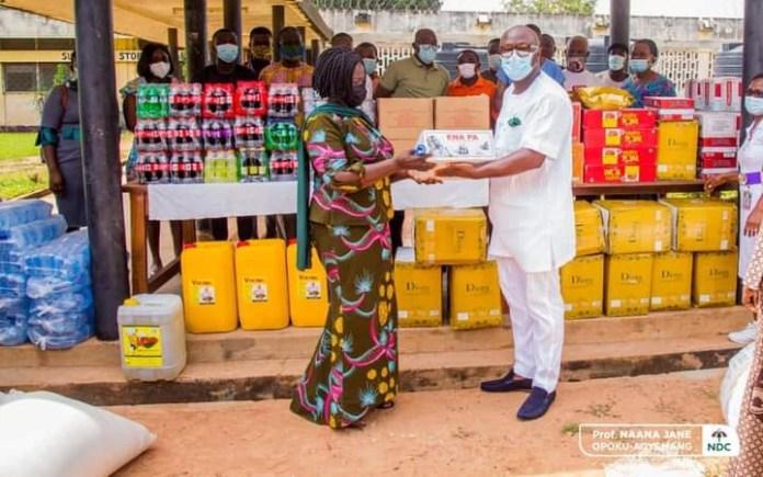 Professor Naana Jane Opoku-Agyemang donates to Pantang Hospital