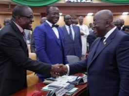 Rt. Hon. Alban Sumana Kingsford Bagbin and Nana Addo Dankwa Akufo-Addo