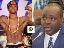 Isaac Dogboe and Isaac Kwame Asiamah ( Former Minister for Sports)