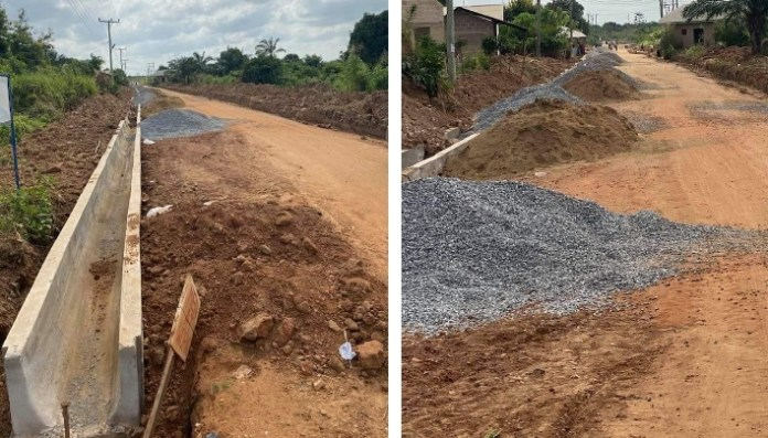 Construction of roads in North Tongu District