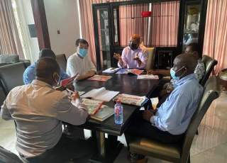 Samuel Okudzeto Ablakwa having discussion with TIAST Group of China and a Consortium of Banks for the construction of Cassava Starch Processing Factory in his Constituency